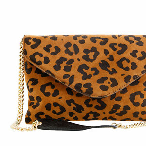 "J CREW Leopard SUEDE ""Invitation"" Envelope CLUTCH/CROSSBODY London Ontario image 2"