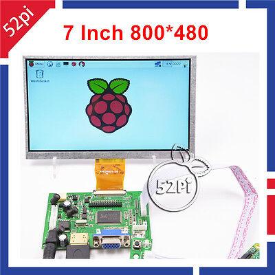 7 Inch 800480 Lcd Display Driver Board Hdmi Vga 2av For Raspberry Pi 3 Pi 2