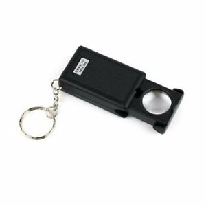 Loupe on keychain  45x power with led light
