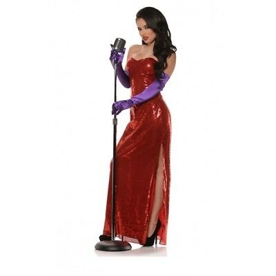 Underwraps Bombshell Jessica Rabbit Red Adult Womens Halloween Costume 29688 - Rabbit Halloween Costume