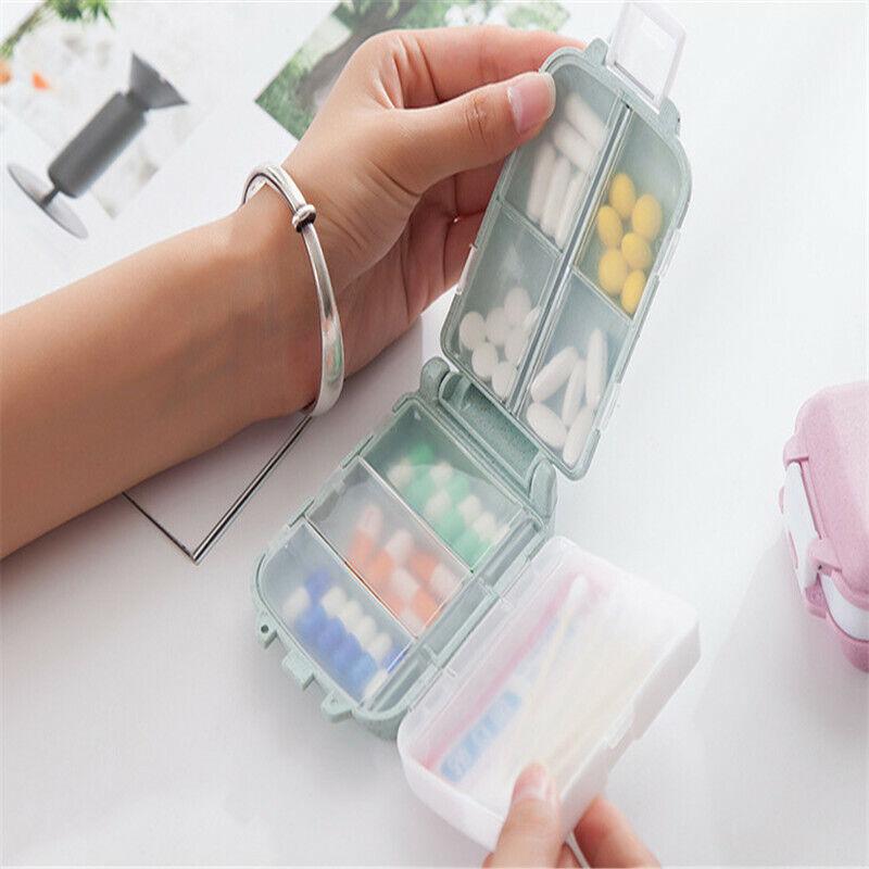 portable small pill container plastic container medicine