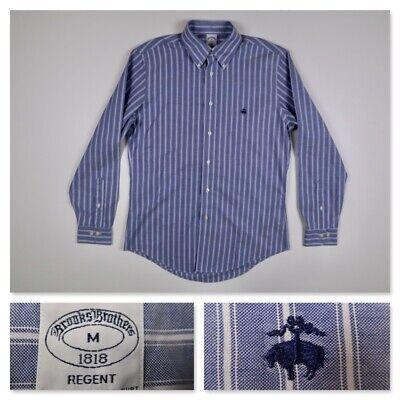 Brooks Brothers Regent Mens Blue Chambray Long Sleeve Oxford Button Shirt Medium
