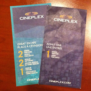 Cineplex Movie tickets and Movie package for 2
