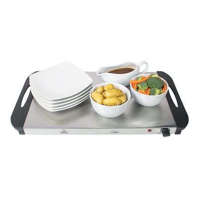 New Buffet Server Warming Tray Food Warmer Trays Hot Plate 3 Pan Stainless Steel