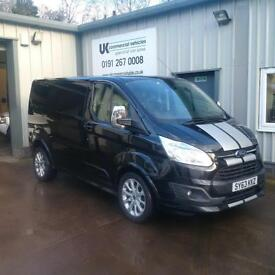 Ford Transit Custom SPORT L1 2.2TDI 155ps Low Miles in Black with ** NOW S0LD **