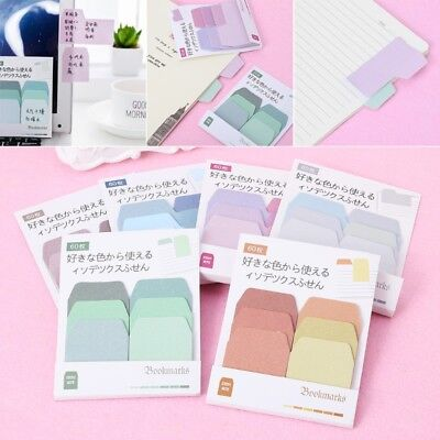 Gradient Sticky Memo Pad Daily Sticker Note Bookmark Scrapbooking Stationery
