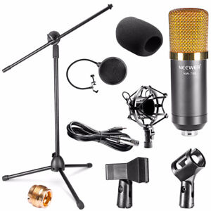 New Condenser Microphone Kit, stand + Wind Screen for recording