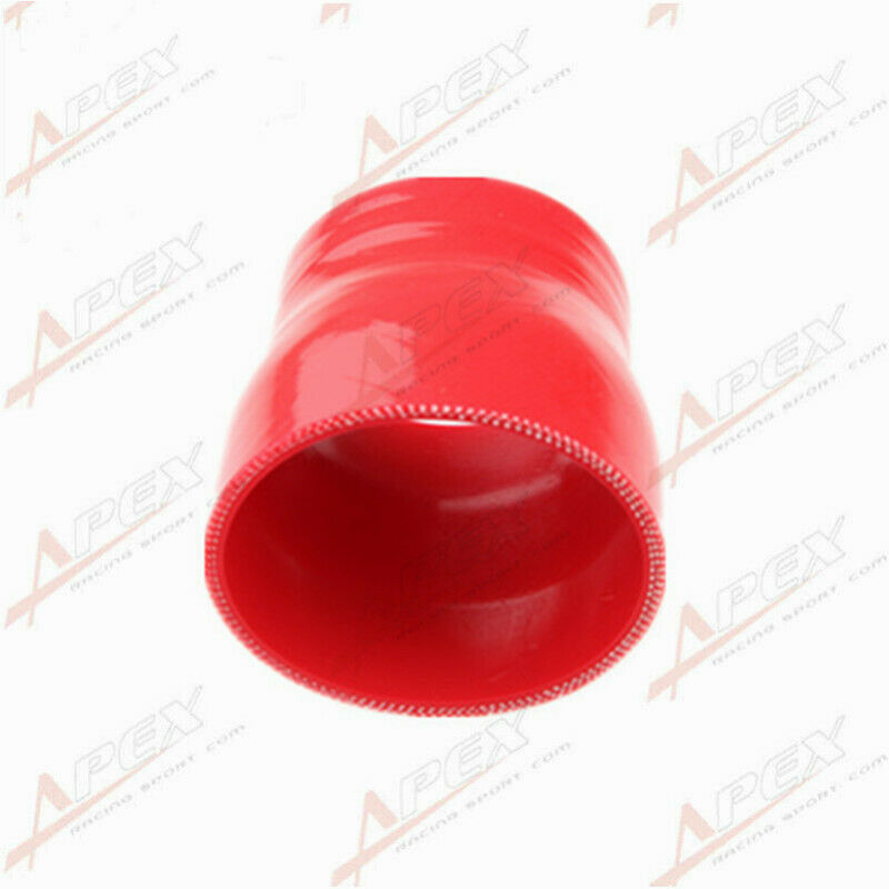 """3Ply 3.75/"""" To 3.5/'/' Inch Straight Reducer 76.2mm Silicone Hose Coupler Pipe Red"""