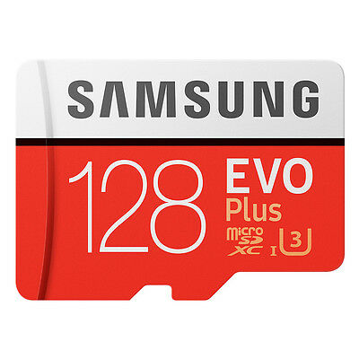 Samsung EVO+ 128GB microSDXC Card 2017 100MB/s + Adapter NEU