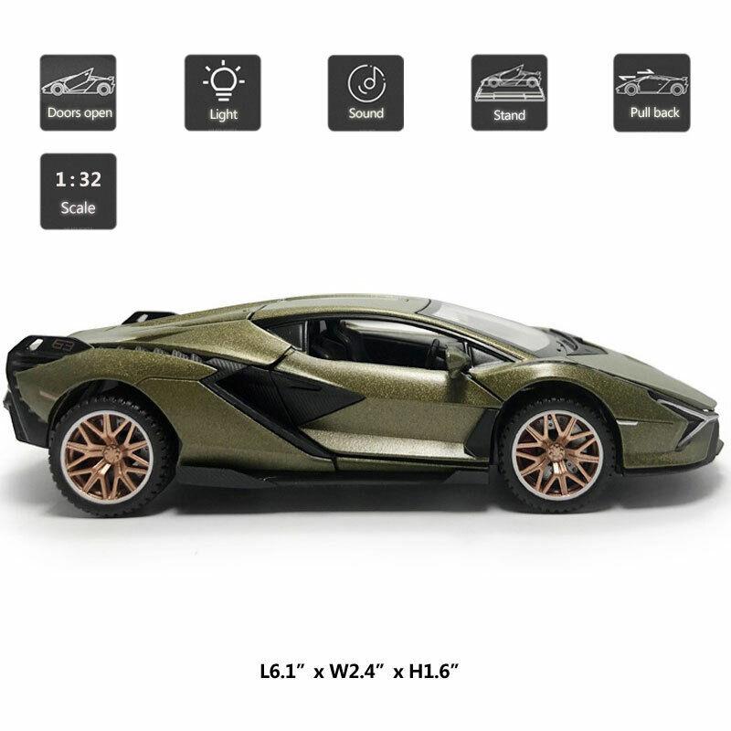 1:32 2019 Lamborghini Sian FKP 37 Supercar Model Car Diecast Toy Vehicle Kids
