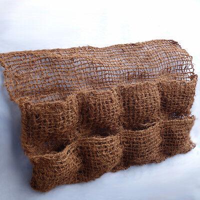 Kokos - Pflanztasche mit 8 Taschen Teichfolie Pflanzhilfe Teichrand Kokostasche