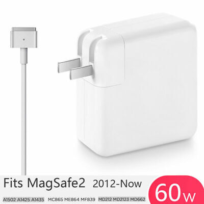 """60W T-Tip MagSafe2 AC Wall Charger Power Adapter For Macbook Pro 13"""" A1502 MC865"""