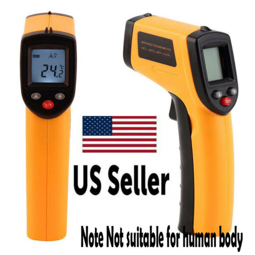 Digital Non-Contact LCD IR Laser Infrared Temperature Thermometer Gun Pyrometer*