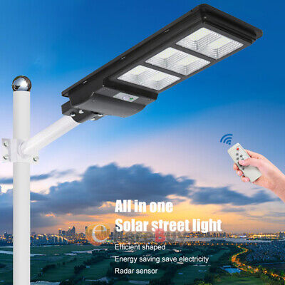 Commercial Outdoor 90w Led Solar Street Light Dusk To Dawn Road Lamp Ip67remote