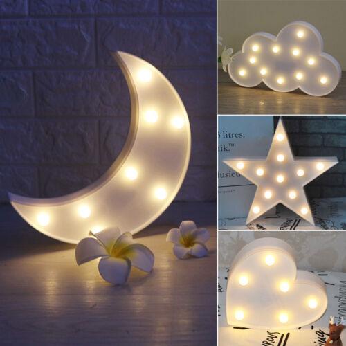 LED Nachtlicht Kinder Nachttischlampe Nachtleuchte Baby Zimmer MondLicht Batteri