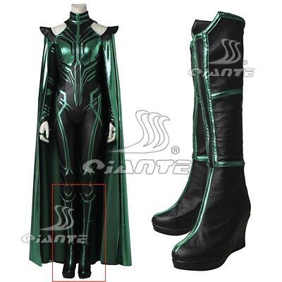 New Thor 3 Ragnarok Trailer Hela Cosplay Shoes High Heel Boots Halloween Cos (New Halloween 3 Trailer)