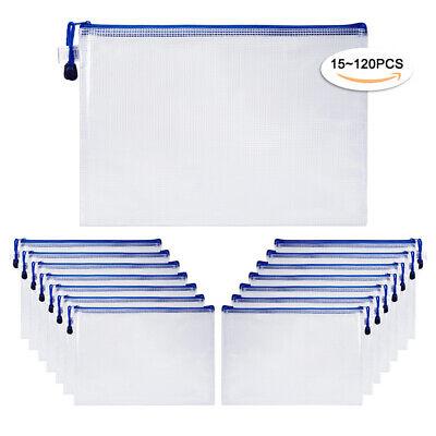 15120pcs A4 Document Holder Zipper Bags Office File Netting Envelope Pouch Bag