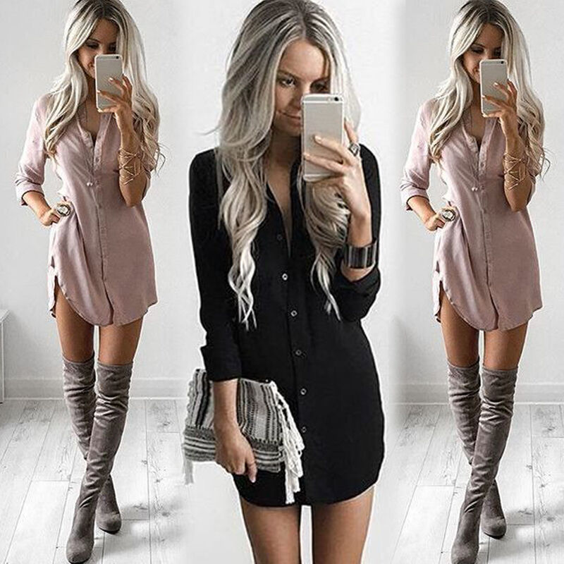 $8.99 - Fashion Women's Long Sleeve Loose Blouse Casual Shirt Summer Tops T-Shirt