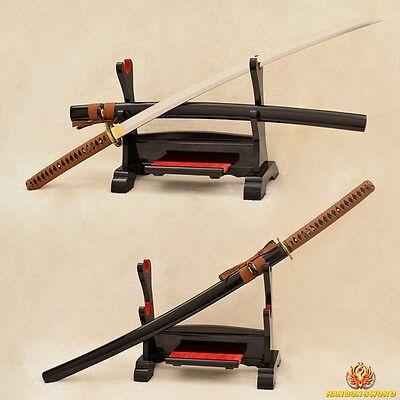 Full Tang Handmade Japanese Samurai Sword Katana 9260 Spring Steel Blade Sharp for sale  China