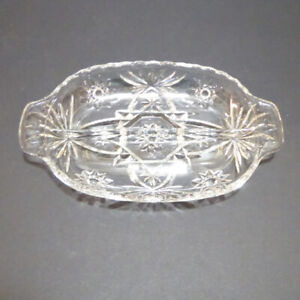 3 CLEAR DISHES - CONDIMENT, CANDY & SALAD BOWL - MINT COND.