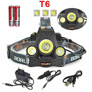 9000LM CREE XM-L 3T6 LED Rechargeable HeadLamp HeadLight Head Torch Flashlight
