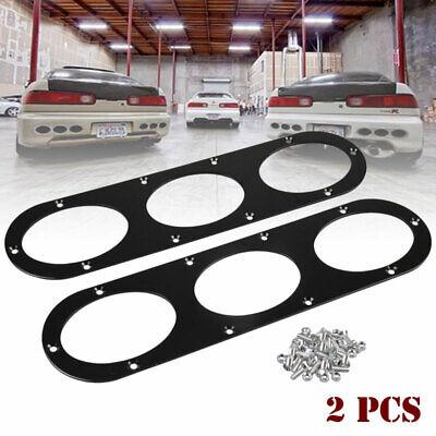 2PCS Black Rear Bumper Race Air Diversion Diffuser Panel For universal Car Mazda