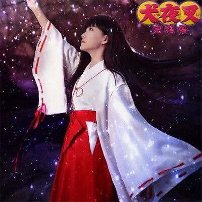 Inuyasha Kikyo Kimono Cosplay Costume Women Clothes Suit Halloween Anime Girls
