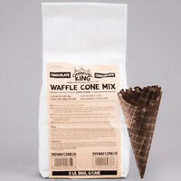 Carnival King Chocolate Waffle Cone Mix 5 lb. Bag - 6/Case