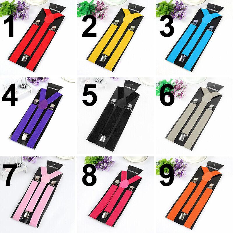 Unisex Elastic Y-shape Braces Mens Womens Adjustable Adjust Clip-on Suspenders