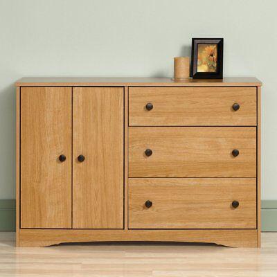 كومودينو جديد Sauder Beginnings 3 Drawer Dresser – Highland Oak