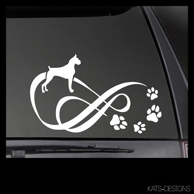 "BOXER Infinity Decal, Car Truck Window Sticker! 8"" x 4.75"" DOG-20006"