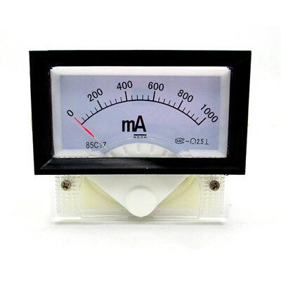 Instrument 85c17 Dc 0-1000ma Amp Analog Panel Meter Ammeter