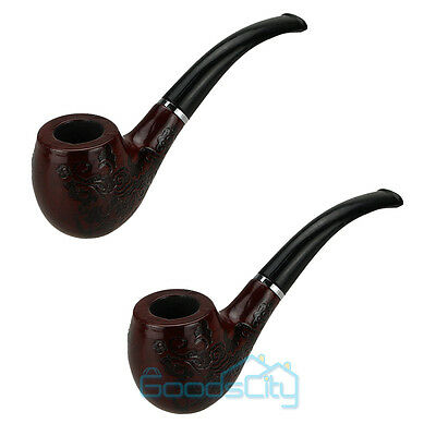 2pcs New Wooden Enchase Smoking Pipe Tobacco Cigarettes Cigar Pipes Durable