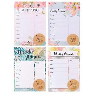 A4 Weekly Planner - Meal List To Do Shopping Desk Note Pad Home Office Plan