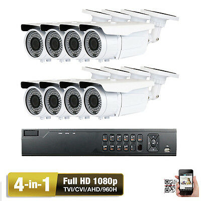 8Ch AHD HDMI DVR Sony Cmos 2.6MP 4-in-1 Bullet 1080P Security Camera System CC72