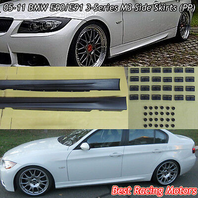M Style Side Skirts (PP) Fits 05-11 BMW E90 E91 4/5dr 3-Series