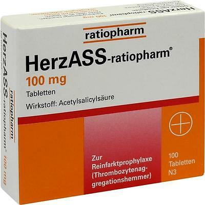 HERZASS ratiopharm 100 mg Tabl.   100 st   PZN4561936