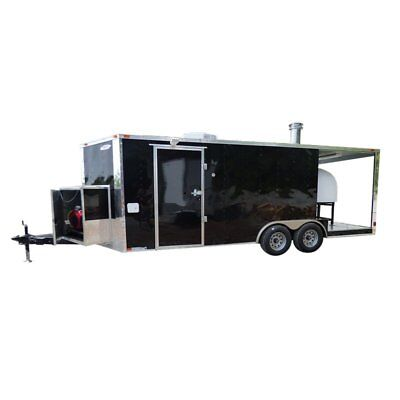 Concession Trailer 8.5 X 20 Black Pizza Food Event Catering