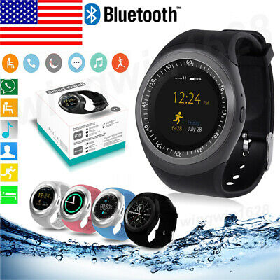 Y1 Round FaceWaterproof Bluetooth Smart Watch Phone Mate For Android & iPhone