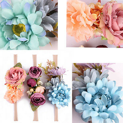 3PCS Cute Baby Girls Toddler Lace Flower Hair Headwear Headband Accessories US