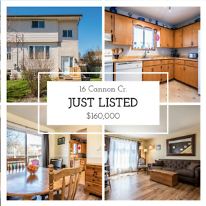 Just Listed!!! 16 Cannon Cr. Only $160,000!
