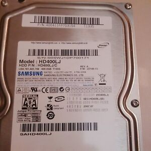 Broken Samsung HD400LJ hard drive for parts only, $3