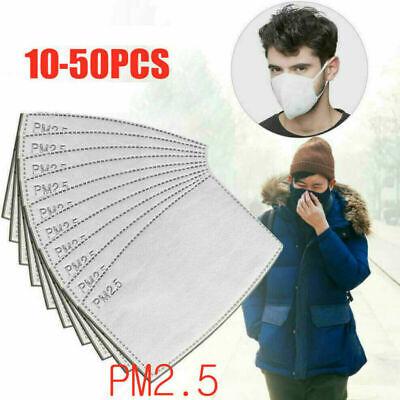 10-30PCS Activated Carbon Odour Filter Replaceable PM2.5 Breath Insert Anti-dust