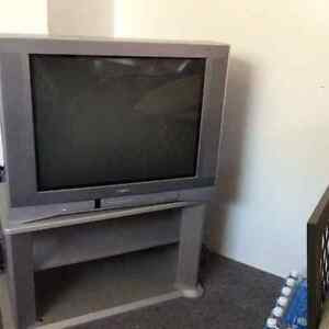 Flat front Toshiba TV and Stand