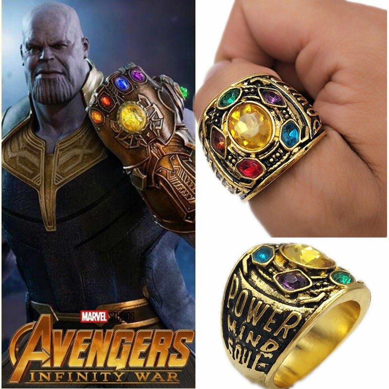 Thanos Rings,Thanos Cosplay,Thanos Gold Ring,Avengers Infinity War Thanos Rings Size 7