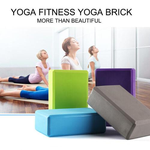 2pcs EVA Yoga Block Brick Sports Gym Foam Body Shaping Health Training Fitness Fitness, Running & Yoga