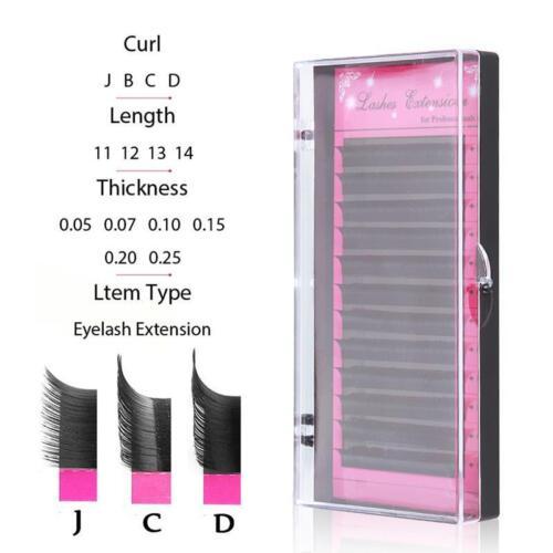 3D Volume Individual Blink Tray Lash 0.07mm C D Curl False E