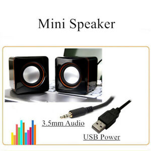 (Open Box, Never Use) Aigoss Computer Speaker USB Powered 3.5mm