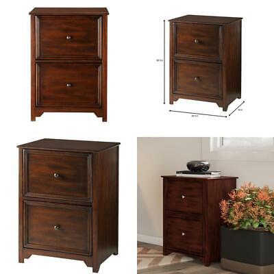 Oxford Chestnut Wooden Vertical File Cabinet 2 Drawer Home Office Storage Filing