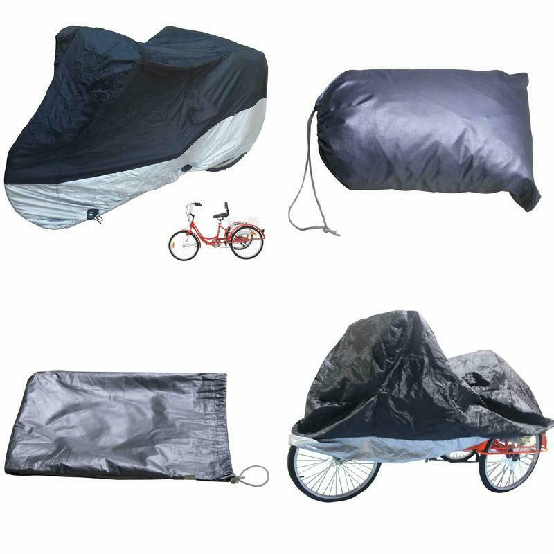 HZt Adult Tricycle Cover Bike Cover, Outdoor Bicycle Motocyc